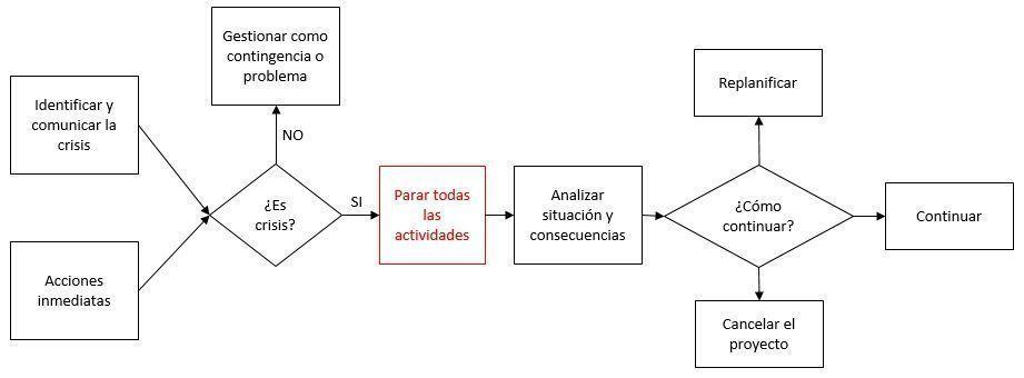 proceso de gestion de crisis en proyectos