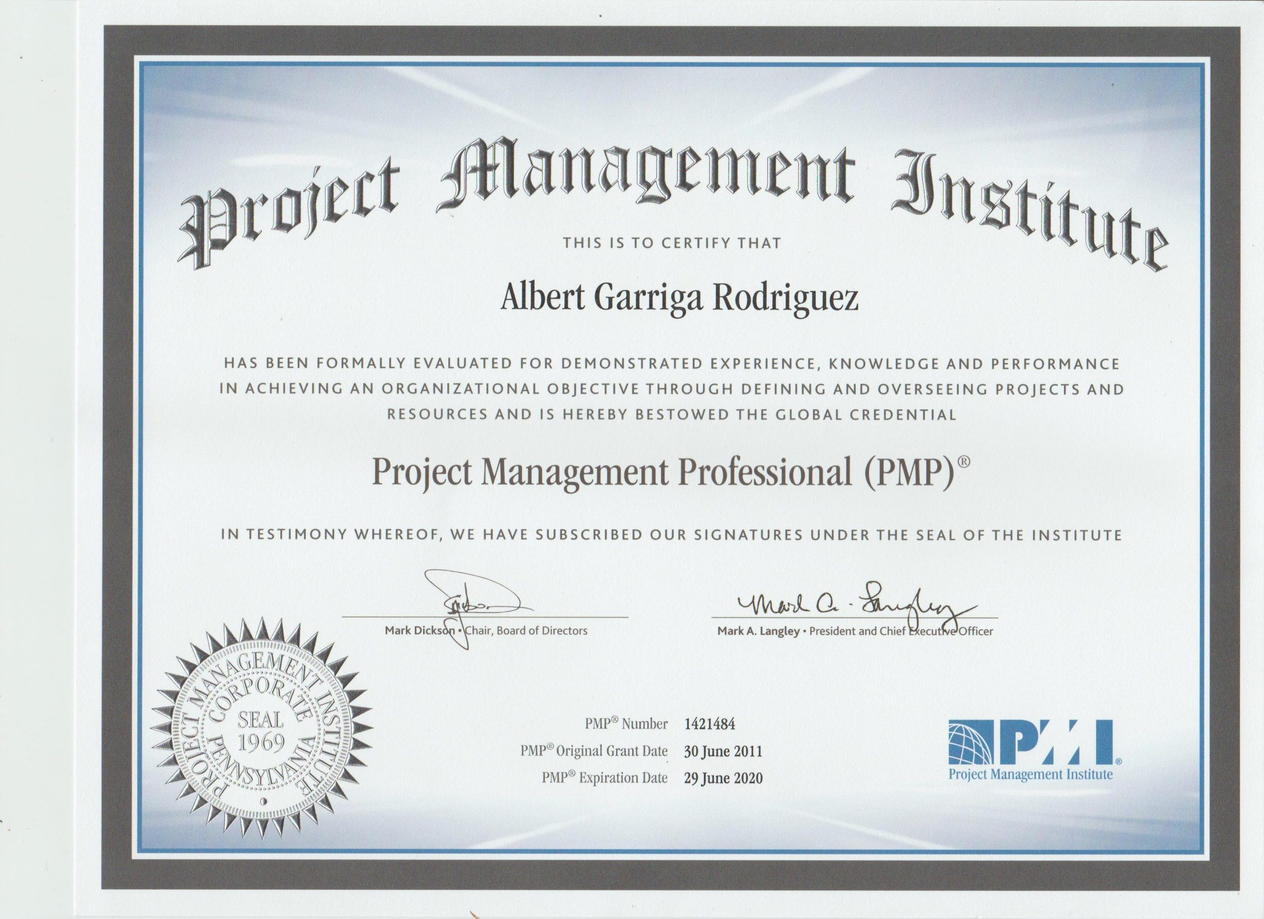 certificación en gestión de proyectos PMP